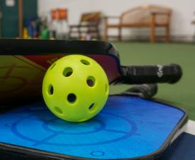 pickleball and paddles